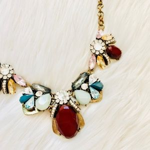 Francescas Gold Gem Statement necklace